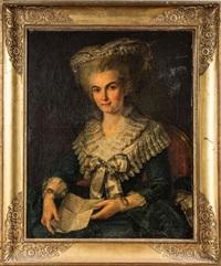 portrait de femme tenant une lettre by adélaïde labille-guiard