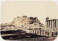 greece: l'acropole et le temple de jupiter olympien by g(abriel) de rumine