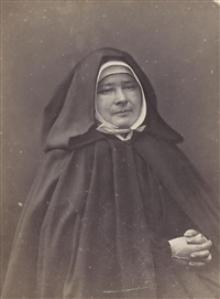 portrait de mère marie jamet, supérieure de l'ordre des petites soeurs des pauvres by nadar