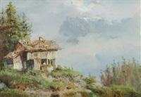 paysage des pyrénées by eugène galien-laloue