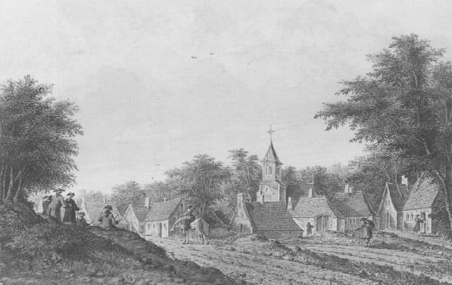 vue de village avec deux artistes au travail by theodor dirk verryck