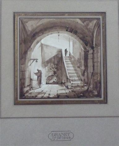 moine au puits by françois marius granet