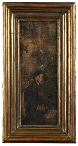Side wings of a triptych featuring portraits of donors and