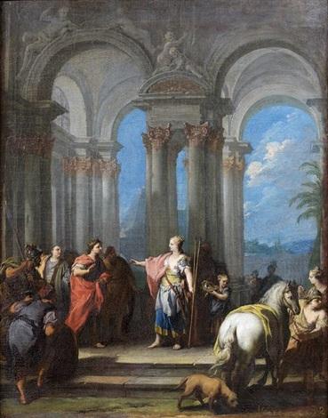la rencontre dantoine et cléopâtre by jacopo amigoni