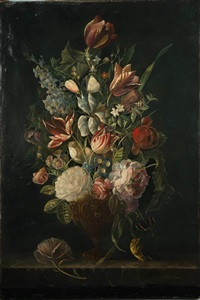 floral still life by anthony oberman