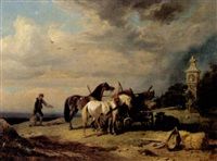 rast des fuhrwerkers by friedrich reinhold the younger
