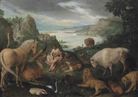 orpheus charming the animals by roelandt savery