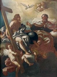jésus présentant la croix à dieu le père by francesco solimena