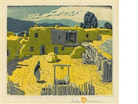 taos placita (not in acton) by gustave baumann