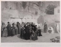 jews praying at the wailing wall by alexandre bida