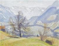 vorfrühling in den hintersteiner bergen by otto friedrich wilhelm modersohn
