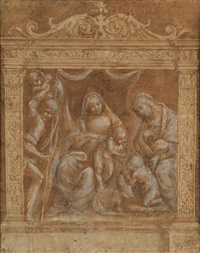 the virgin and child with st. john the baptist and st. elizabeth by bernardino lanino