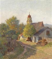 herbstabend am bisamberg by anton hans karlinsky