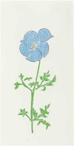 untitled (flower) by mark grotjahn