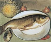 鱼 (still life- fish) by li tiefu