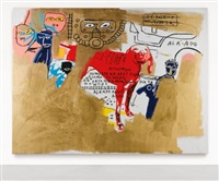dog by jean-michel basquiat and andy warhol
