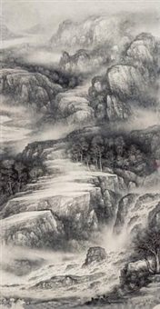 清泉石上流 (stream in mountain) by xu changjiang