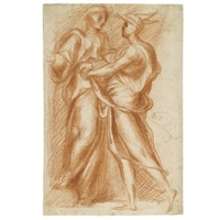 mercury and aglauros by pontormo (jacopo carucci)