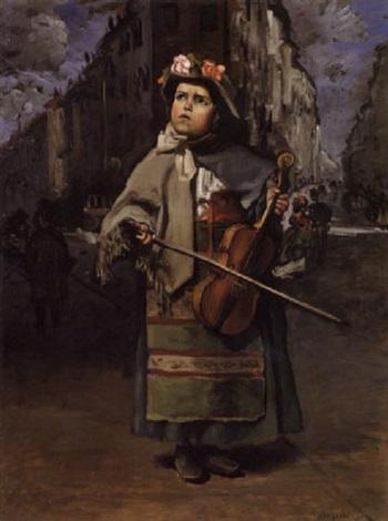 petite italienne chanteuse des rues by frédéric bazille