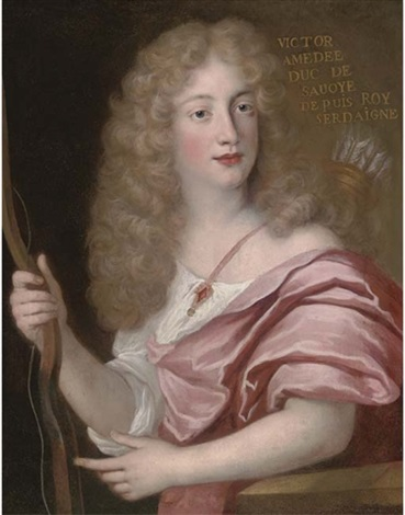 portrait of victor amedee duke of savoy dressed as apollo by john baptist gaspars