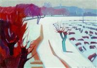 snowy landscape by artashes abraamyan