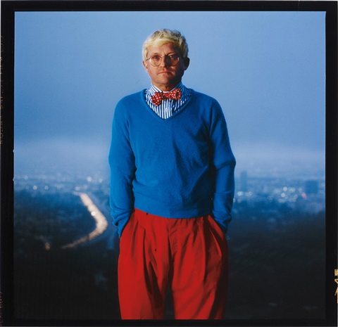 david hockney los angeles by annie leibovitz
