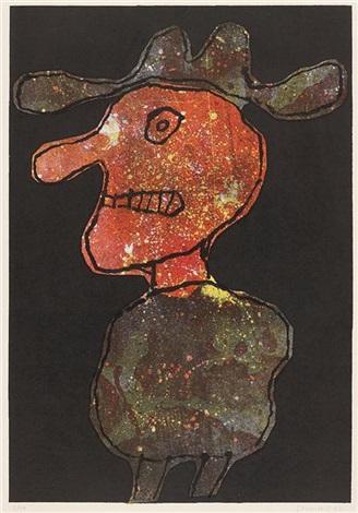 personnage au chapeau by jean dubuffet