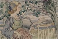 femme à l'amphore by jean georges cornelius