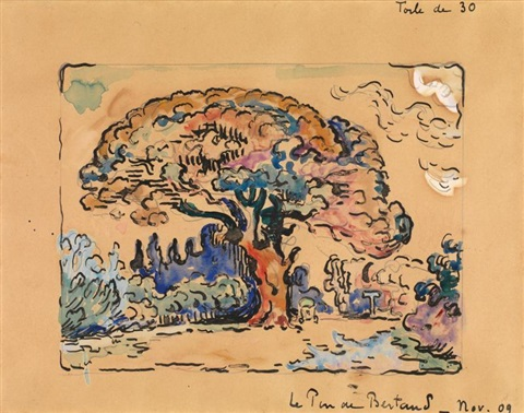 le pin de bertaud by paul signac