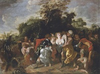 the abduction of the women at the dance of shiloh by johann hulsmann