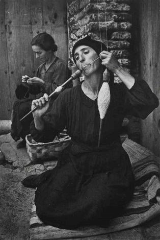 spanish spinner from spanish village by w eugene smith