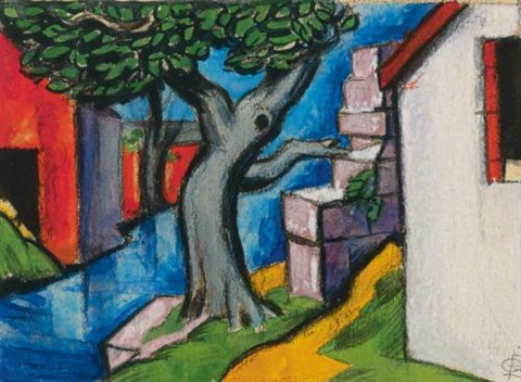 mystic tree by oscar florianus bluemner