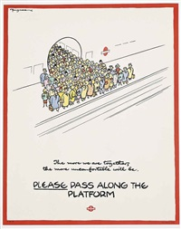 please pass along the platform by fougasse (cyril kenneth bird)