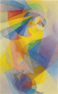 flying figure no. 2 by stanton macdonald-wright