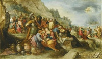 the israelites, after crossing the red sea, at the tomb of the patriarch joseph by frans francken the younger
