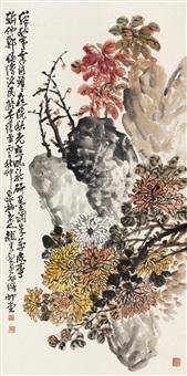 花卉 立轴 纸本设色 by zhao yunhe