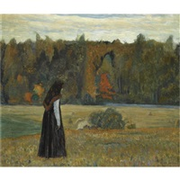 a lonely woman by mikhail vasilievich nesterov