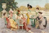 parisian tea party by juan (jean) sala gabriel