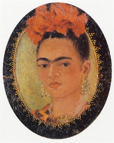 autorretrato en miniatura by frida kahlo