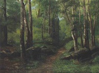 path through the forest by gustave courbet
