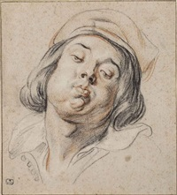 the head of a piper (study for as the old sang, so the young pipe) by jacob jordaens