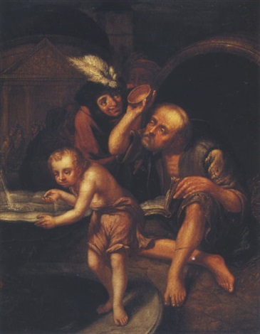 Diogenes Of Sinope Throwing Away His Bowl By Johannes Jan