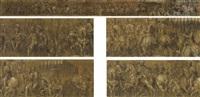 cortège triomphal à l'occasion du couronnement de l'empereur charles v par le pape clément vii by paolo farinati
