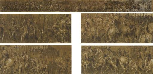 cortège triomphal à loccasion du couronnement de lempereur charles v par le pape clément vii by paolo farinati