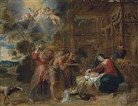 the adoration of the shepherds by frans wouters