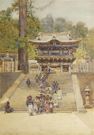 yomeiman gate nikko japan by robert weir allan