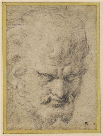 head of a satyr by annibale carracci