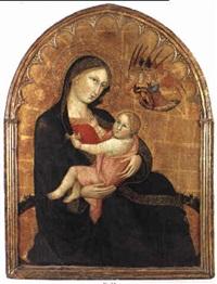madonna mit kind und adorienden engeln by andrea di bartolo