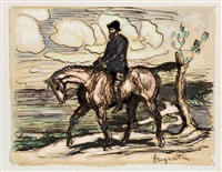 autoportrait à cheval by louis anquetin
