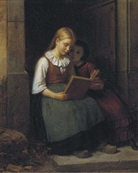 reading on the doorstep by karl friedrich boser